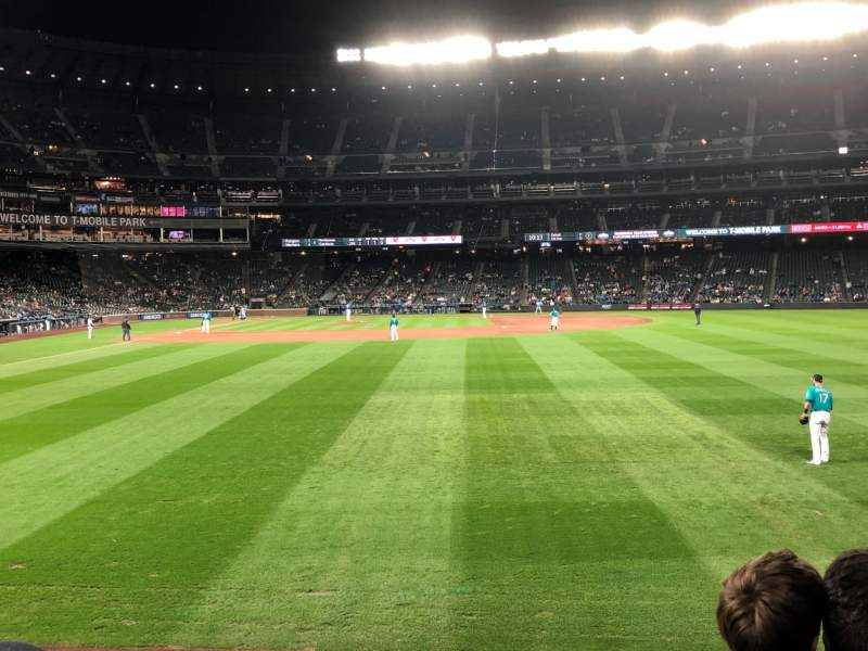 Seating view for T-Mobile Park Section 108 Row 25 Seat 2-3