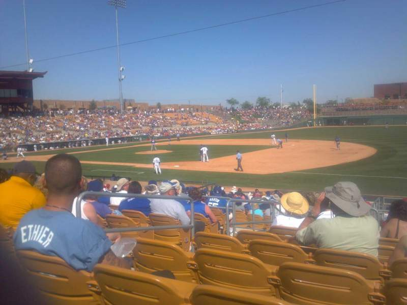 Seating view for Camelback Ranch Section 104 Row 11 Seat 17