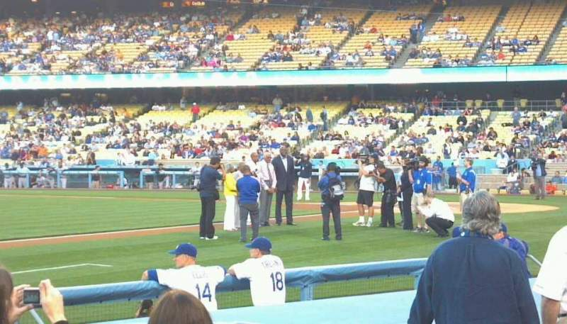 Seating view for Dodger Stadium Section 27FD Row 8 Seat 2