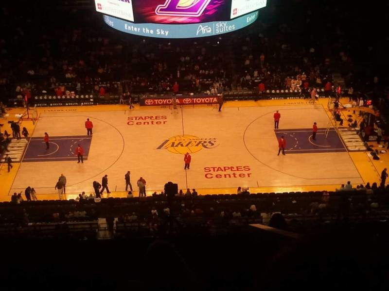 Seating view for Staples Center Section 318 Row 10 Seat 10