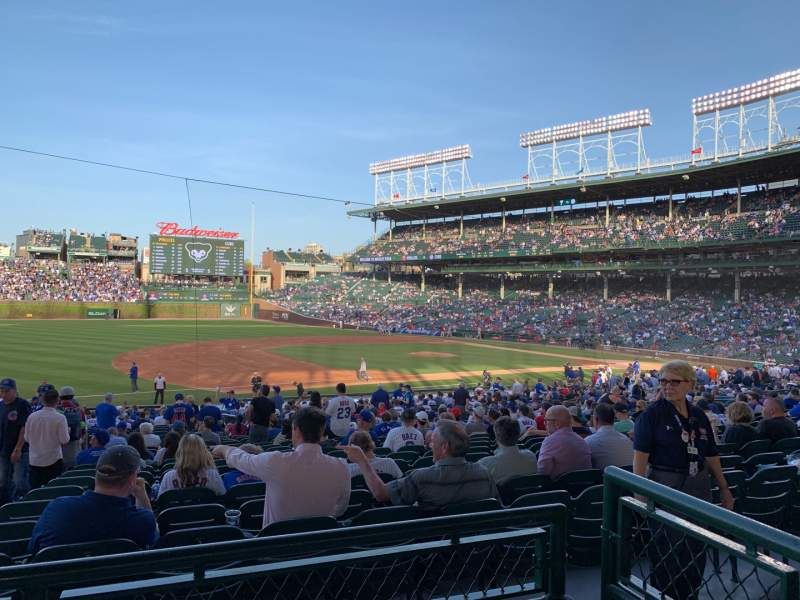 Seating view for Wrigley Field Section 209 Row 2 Seat 8