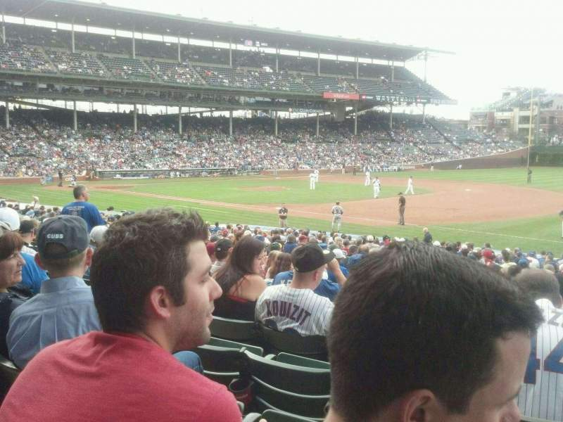 Seating view for Wrigley Field Section 134 Row 13 Seat 6