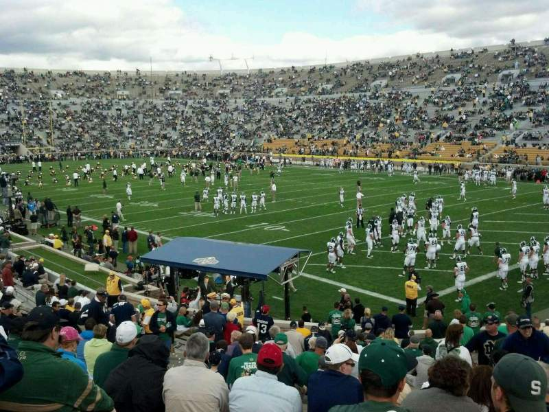 Seating view for Notre Dame Stadium Section 22 Row 31 Seat 17