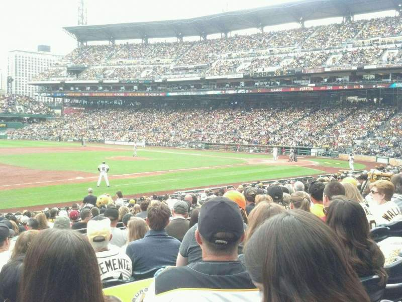 Seating view for PNC Park Section 125 Row H Seat 16