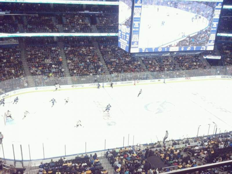 Seating view for Amalie Arena Section 303 Row B Seat 13