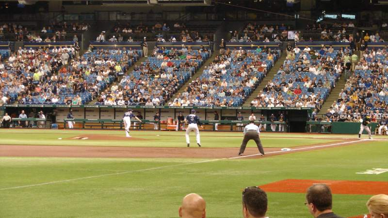 Seating view for Tropicana Field Section 135 Row H Seat 8