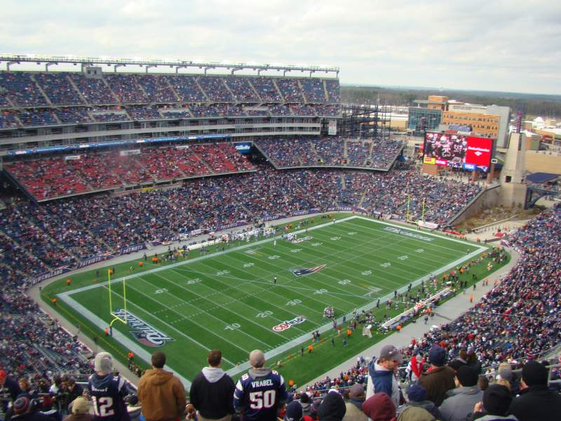 Seating view for Gillette Stadium Section 317 Row 23 Seat 16