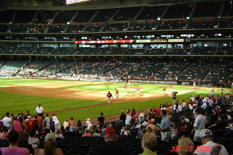 Seating view for Minute Maid Park Section 107 Row 24 Seat 7