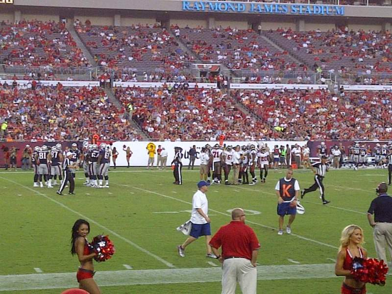 Seating view for Raymond James Stadium Section 107 Row D Seat 8