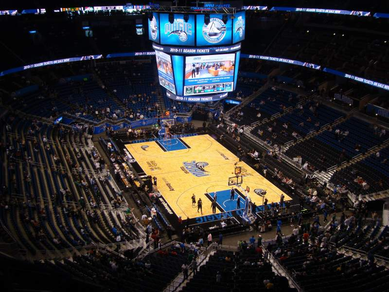 Seating view for Amway Center Section 203 Row 12 Seat 6