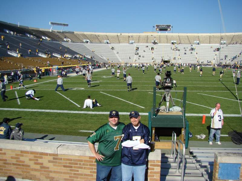 Seating view for Notre Dame Stadium Section 19 Row 5 Seat 1