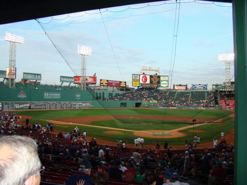 Seating view for Fenway Park Section Grandstand 22 Row 2 Seat 4