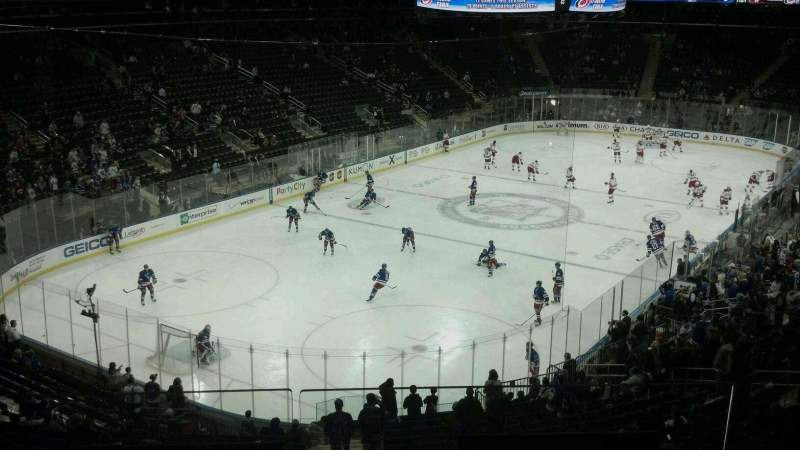 Seating view for Madison Square Garden Section 206 Row 3 Seat 13