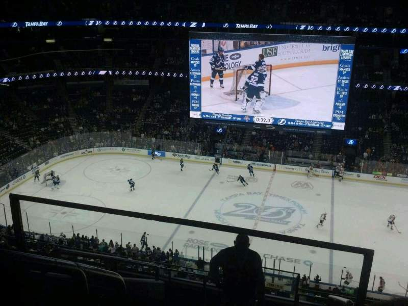 Seating view for Amalie Arena Section 315 Row F Seat 1