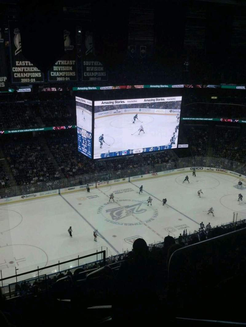 Seating view for Amalie Arena Section 303 Row N Seat 6