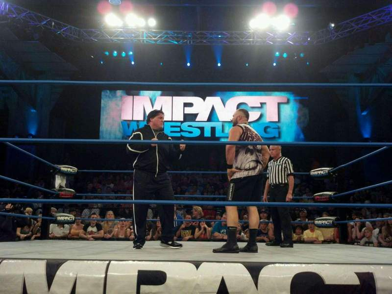 Seating view for Impact Zone Section Family Row 1 Seat 8