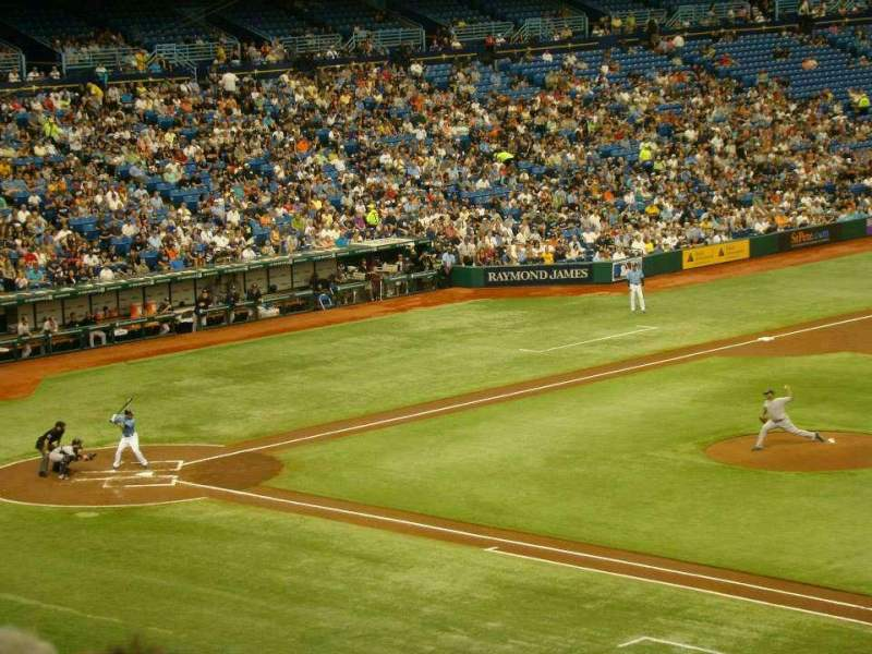 Seating view for Tropicana Field Section 216 Row E Seat 15