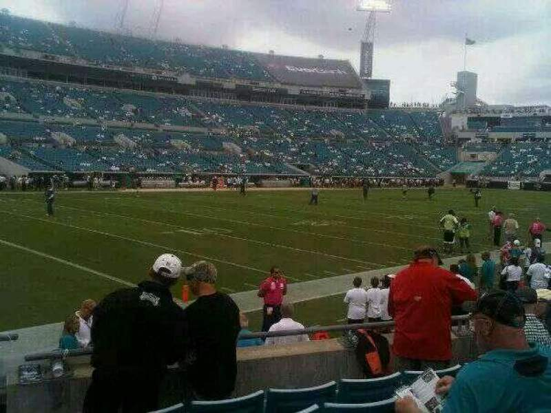 Seating view for EverBank Field Section 115 Row D Seat 6