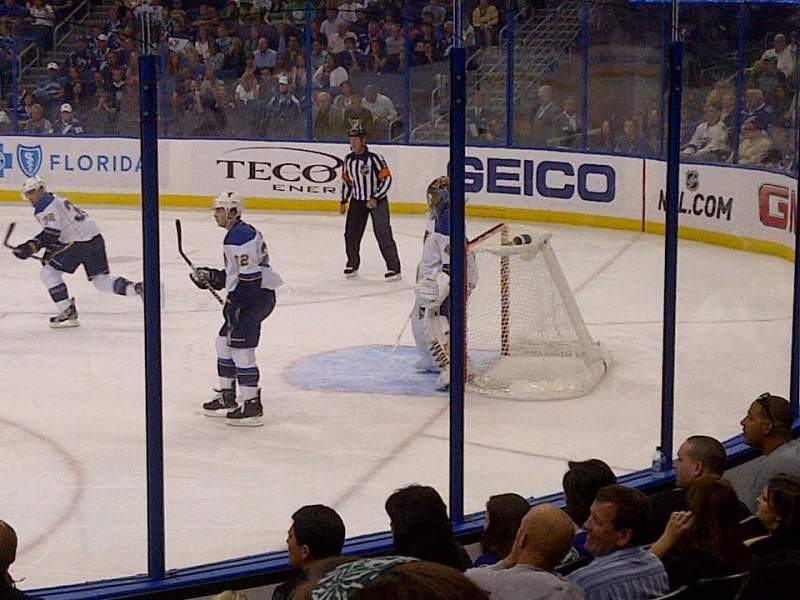 Seating view for Amalie Arena Section 112 Row K Seat 7