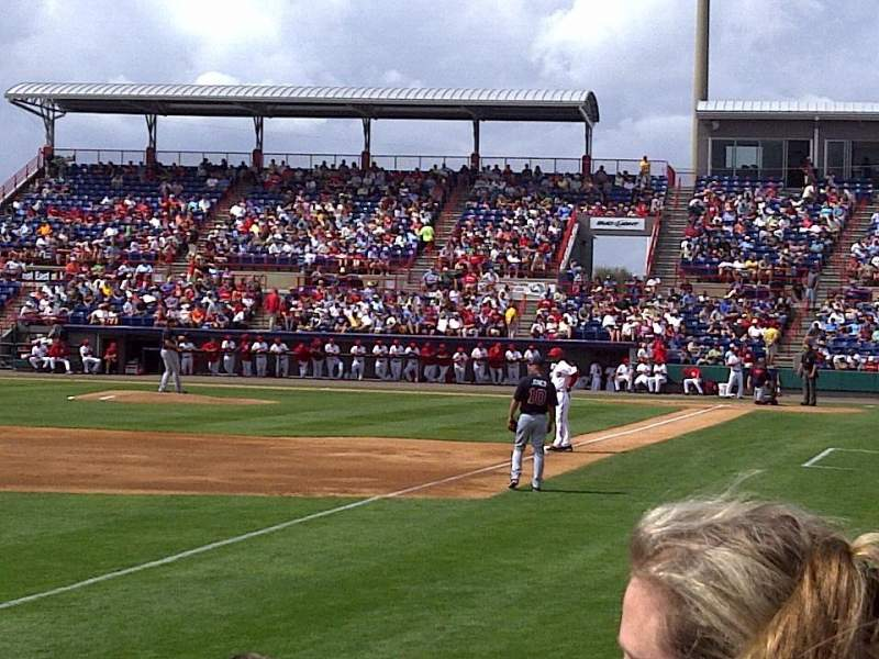 Seating view for Space Coast Stadium Section 101 Row 2 Seat 17