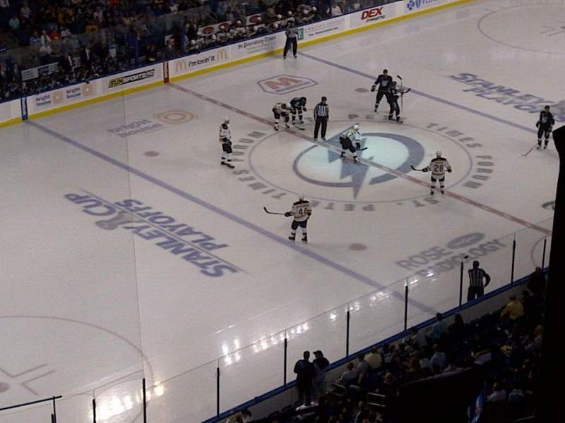 Seating view for Amalie Arena Section 320 Row R Seat 6