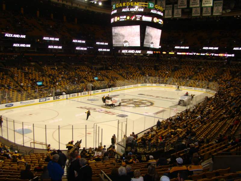 Seating view for TD Garden Section Loge 15 Row 27 Seat 32