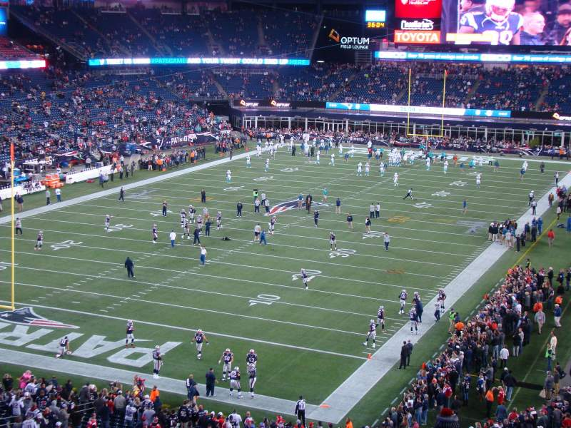 Seating view for Gillette Stadium Section 240 Row 27 Seat 21