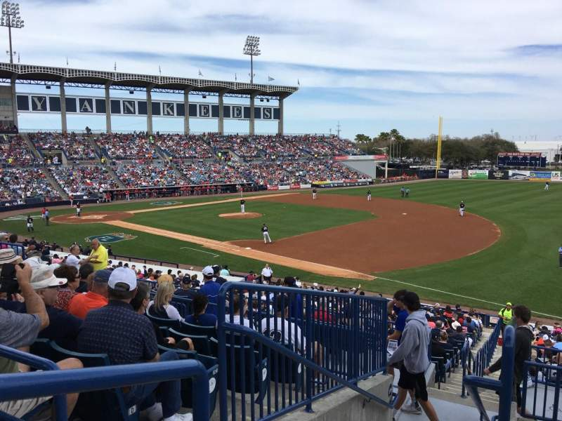 Seating view for George M. Steinbrenner Field Section 203 Row G Seat 20