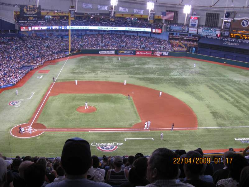 Seating view for Tropicana Field Section 312 Row S Seat 12