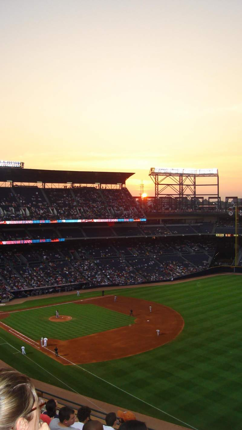 Seating view for Turner Field Section 430 Row 6 Seat 6