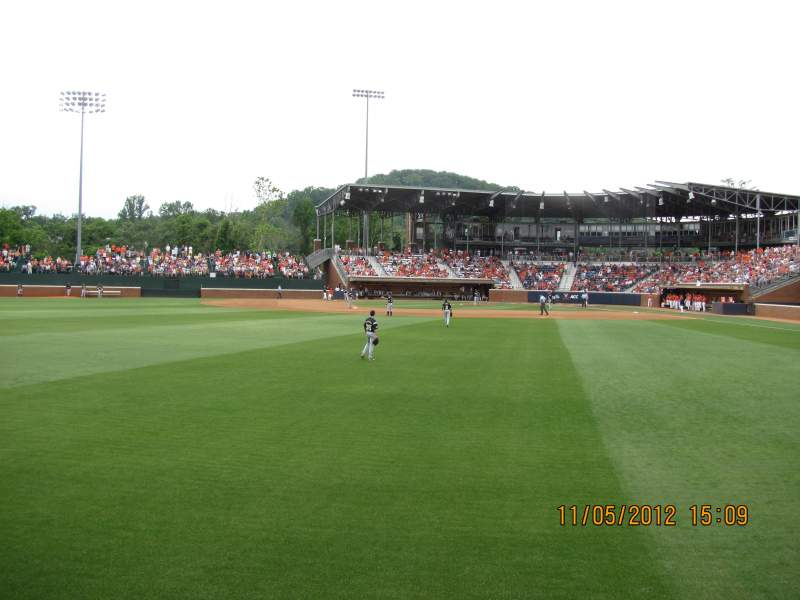 Seating view for Davenport Field Section GA Left Field Row 1