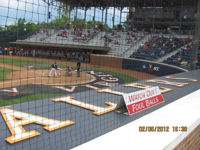 Seating view for Davenport Field Section 109 Row 1