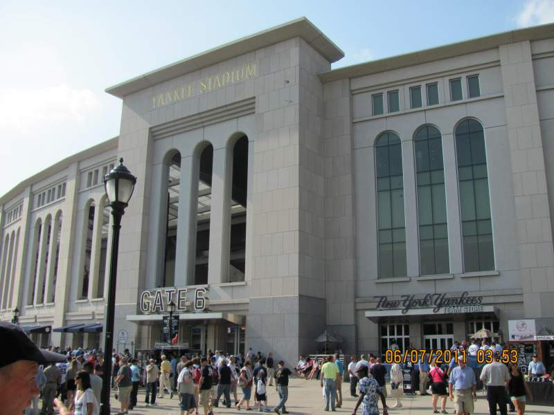 Seating view for Yankee Stadium Section Gate 6