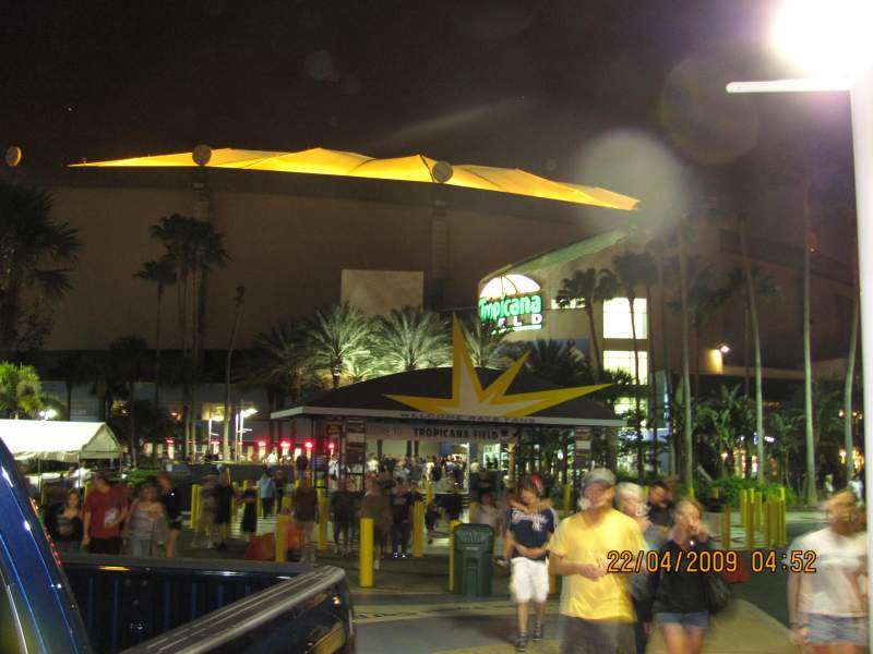 Seating view for Tropicana Field Section Gate 1