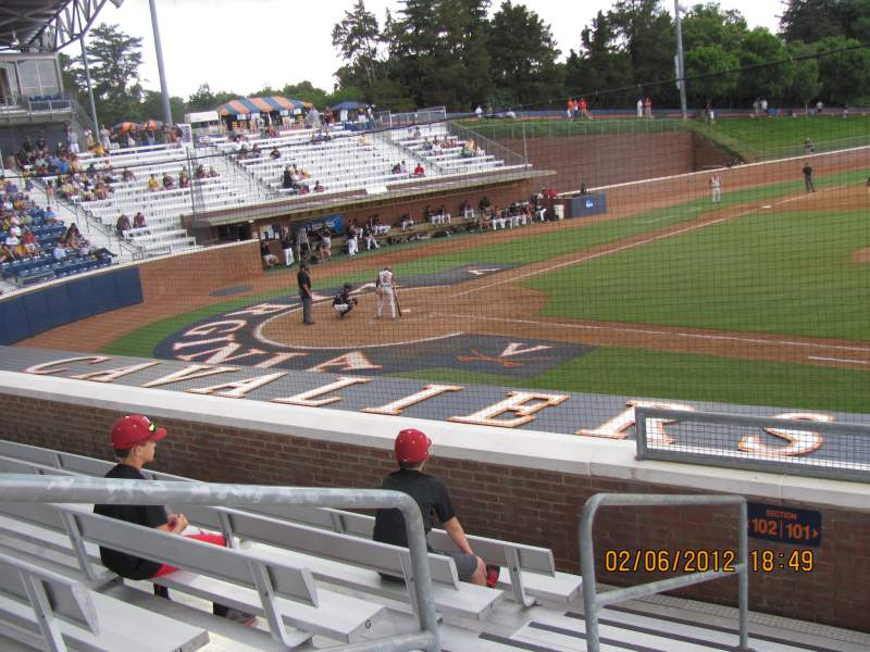 Seating view for Davenport Field Section 101 Row I