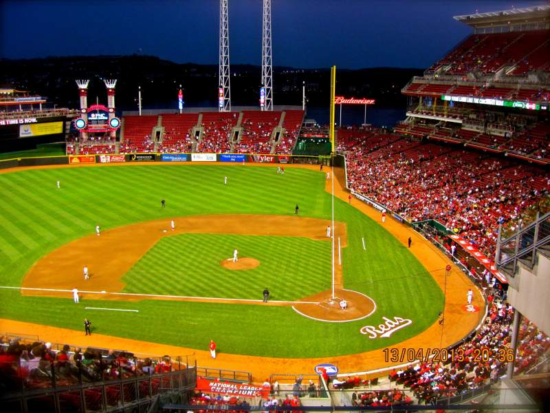 Seating view for Great American Ball Park Section SRO Row 1 Seat N/A