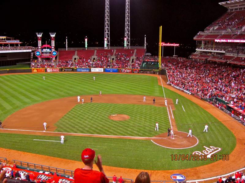 Seating view for Great American Ball Park Section 419 Row E Seat 2