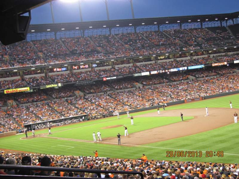 Seating view for Oriole Park at Camden Yards Section 9 Row 6 Seat 14