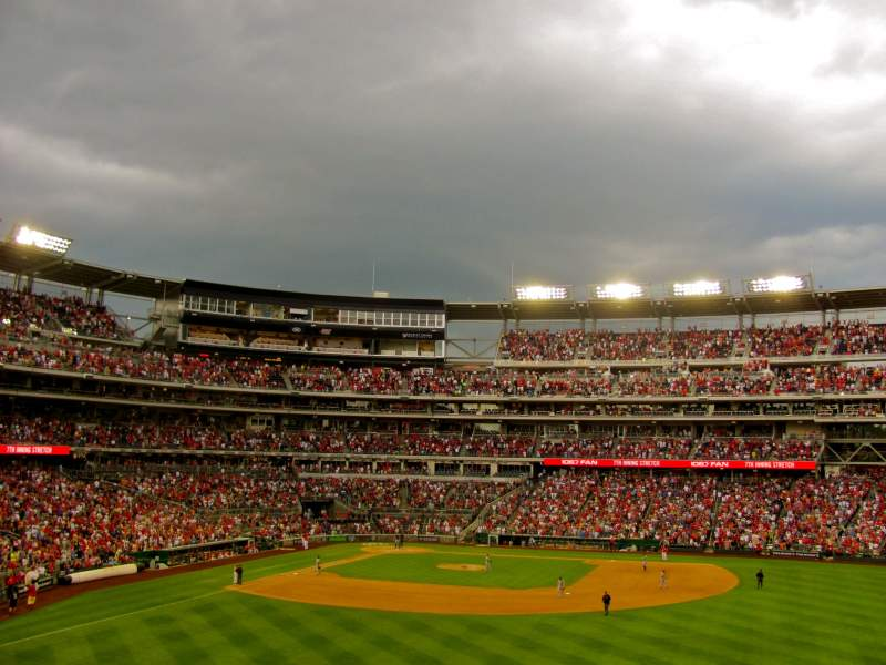 Seating view for Nationals Park Section 241 Row A Seat 13