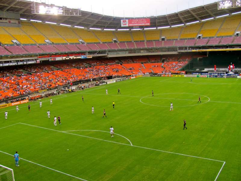 Seating view for RFK Stadium Section M45 Row 1 Seat 4