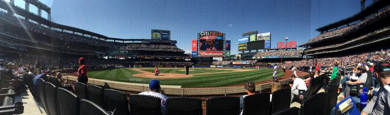 Seating view for Citi Field Section 14 Row 3 Seat 5