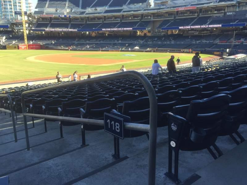 Seating view for PETCO Park Section 118 Row 25 Seat 1
