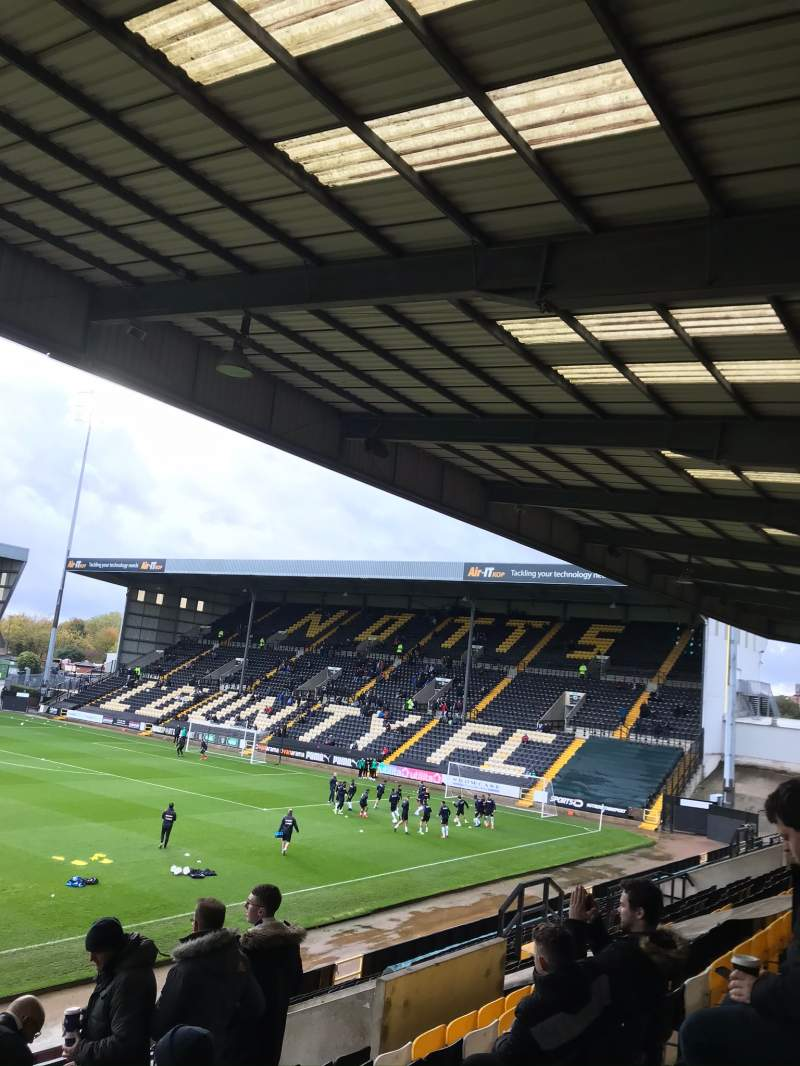 Seating view for Meadow Lane Section Away end