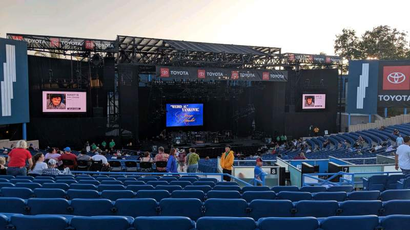 Seating view for Pacific Amphitheatre Section 5 Row k Seat 11