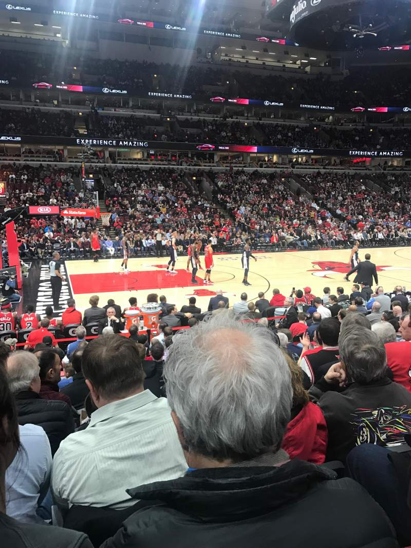 Seating view for United Center Section 102 Row 9 Seat 7