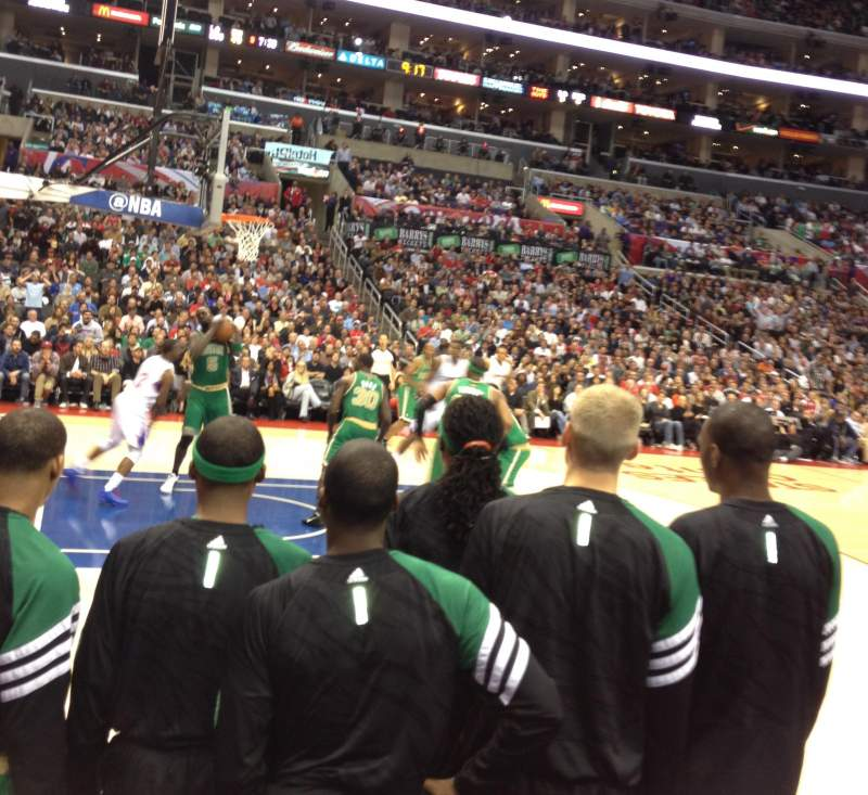 Seating view for STAPLES CENTER Section 112 Row A Seat 17