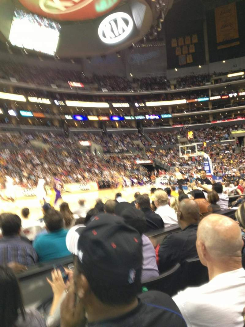 Seating view for Staples Center Section 112 Row 3 Seat 13