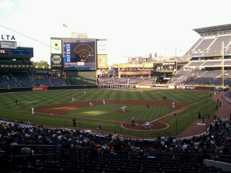 Seating view for Turner Field Section 204 Row 13 Seat 7