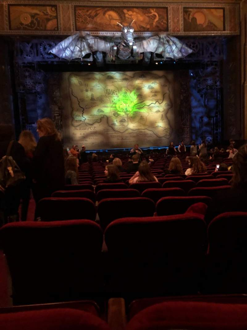 Seating view for Hollywood Pantages Theatre Section Orchestra C Row X Seat 113
