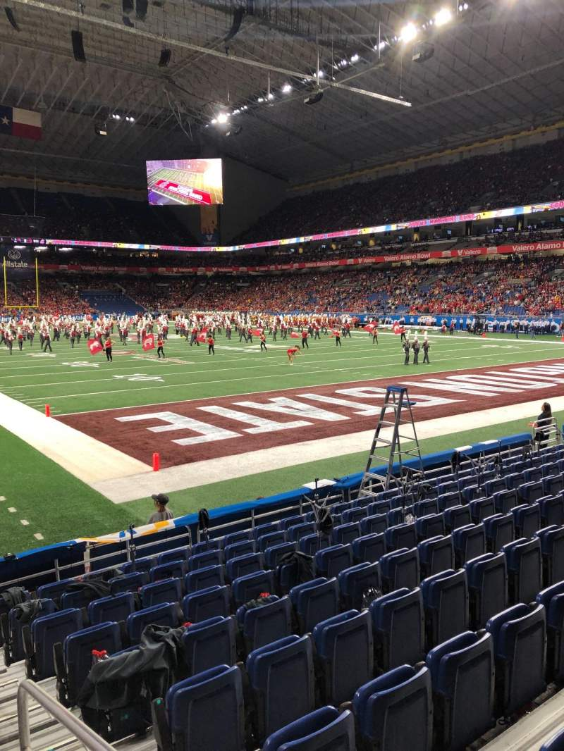 Seating view for Alamodome Section 104 Row 6 Seat 1